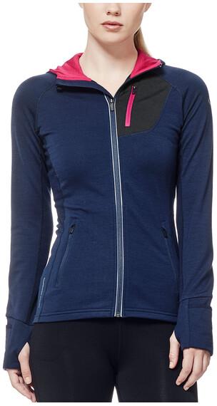Icebreaker Quantum sweater Dames blauw